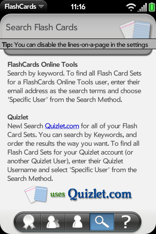 FlashCards for webOS